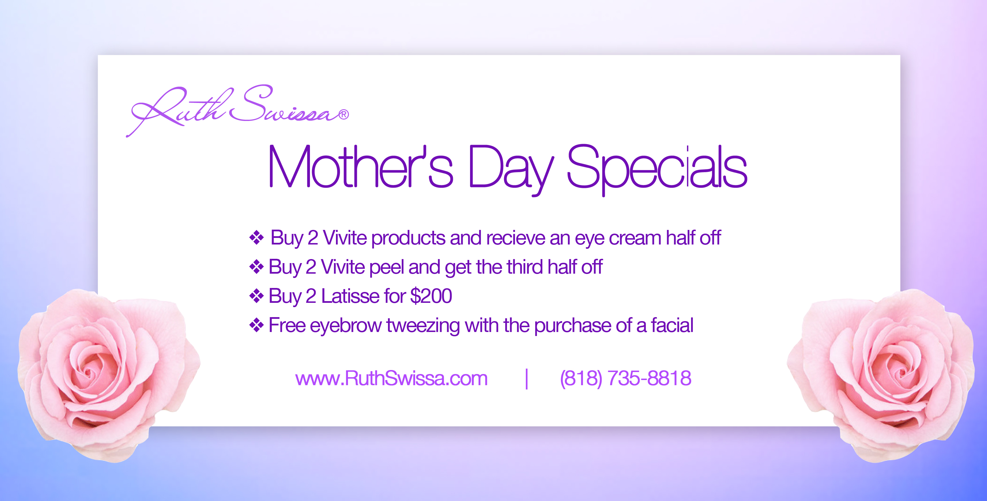 *~ Mother's Day Specials~*
